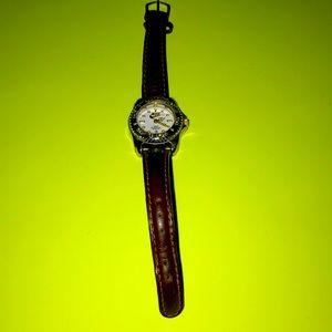 Ladies brown leather Nike watch